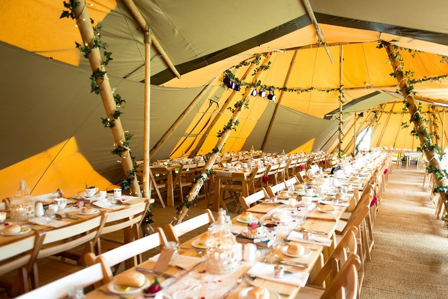 Fjell event tipis at Muncaster Castle