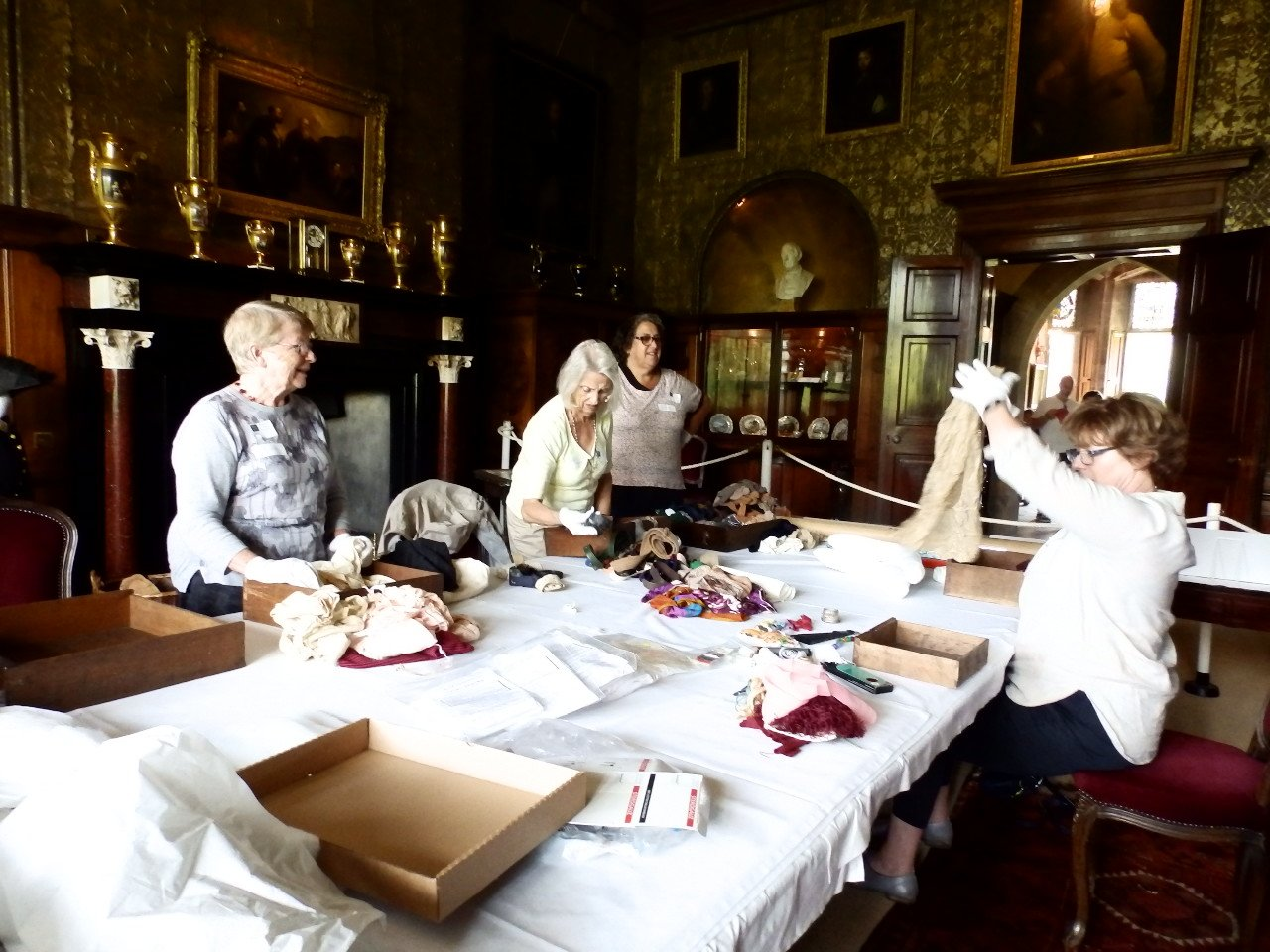 "A very big ""Thank You"" to our fabulous Textile Volunteers."