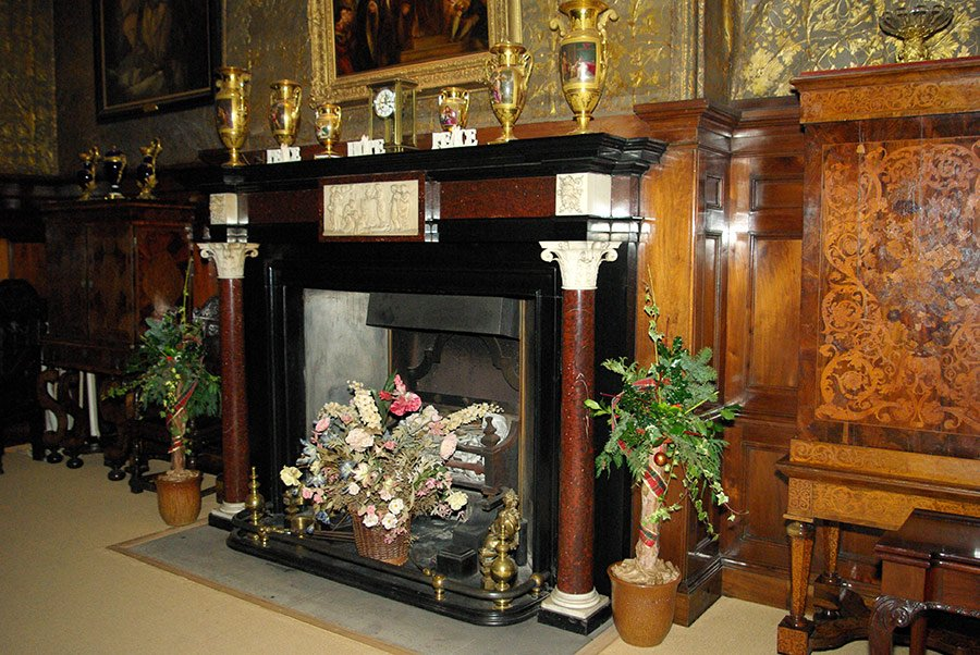 Castle Dining Room Fireplace