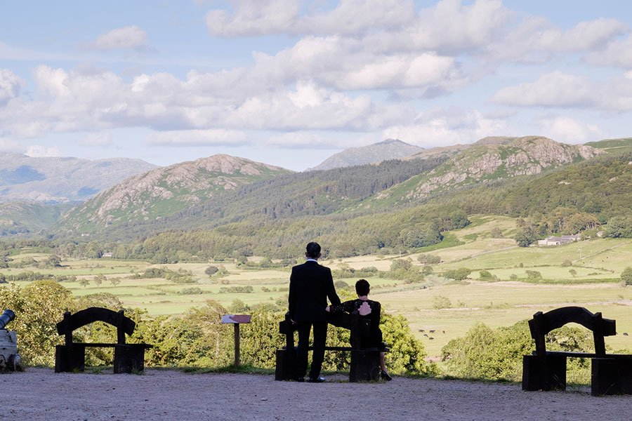 Function guests admiring the view from the Cannon Bank