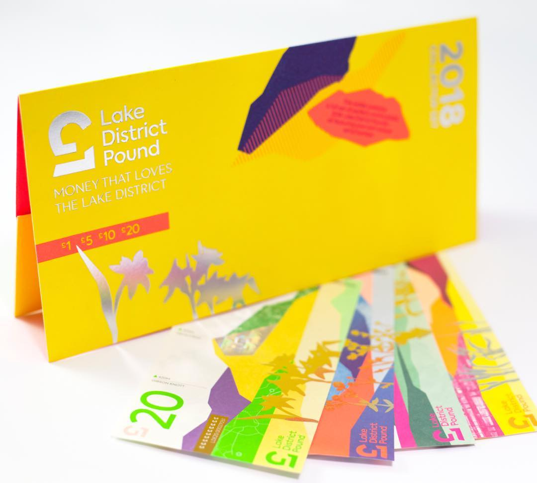 lake district pound notes and folder