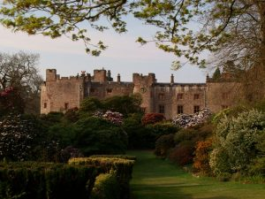 Muncaster Castle in the spring