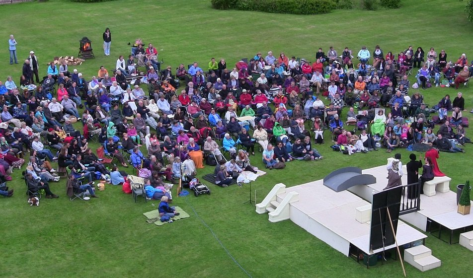 Outdoor theatre at Muncaster