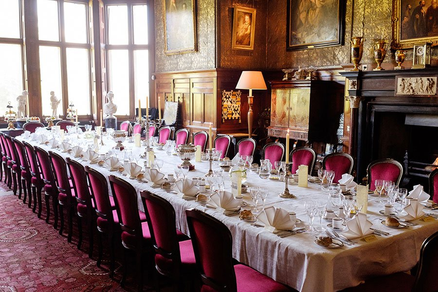 formal dining room Muncaster Castle