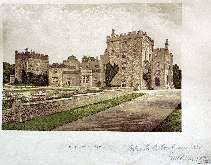 Vintage photo of Muncaster Castle in Cumbria